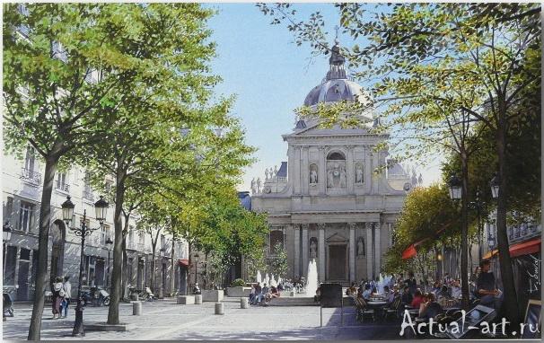 Thierry Duval и его акварельный взгляд на Париж