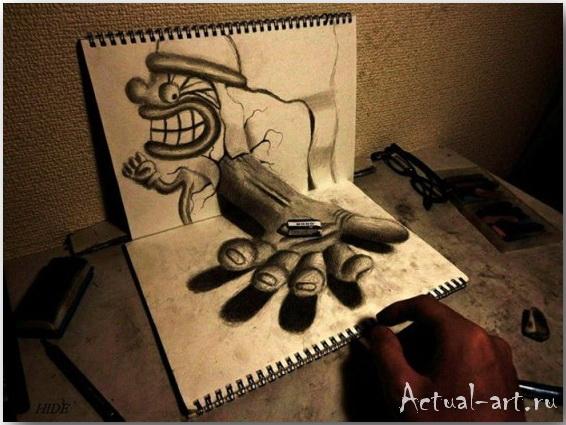 Nagai Hideyuki: непростые рисунки с помощью простого карандаша