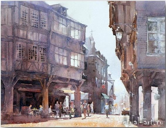 Michal Orlowski: старый город и акварельный пейзаж