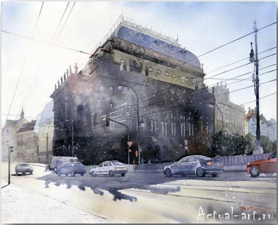 Grzegorz Wrobel: эффект фотографии в акварели