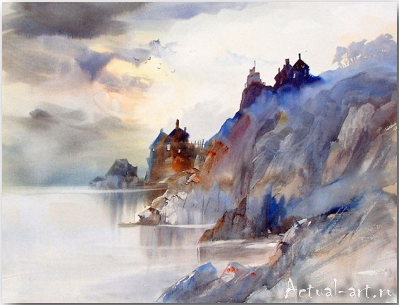Arnold Lowrey о море и небе в акварели