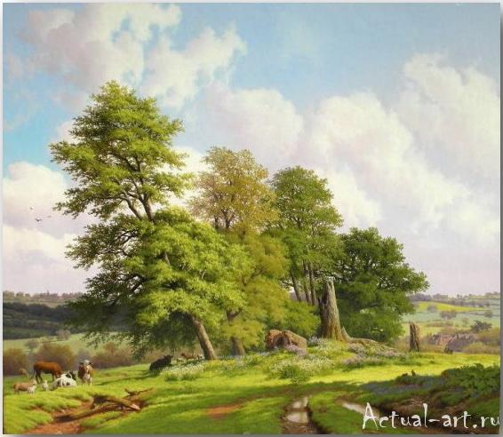Daniel Van Der Putten и его пасторальные пейзажи Британии