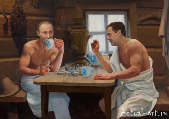 «О Тандеме»_Александр Акопов_Живопись_09